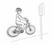 Coloriage et dessins gratuit La Ville à Bicyclette à imprimer