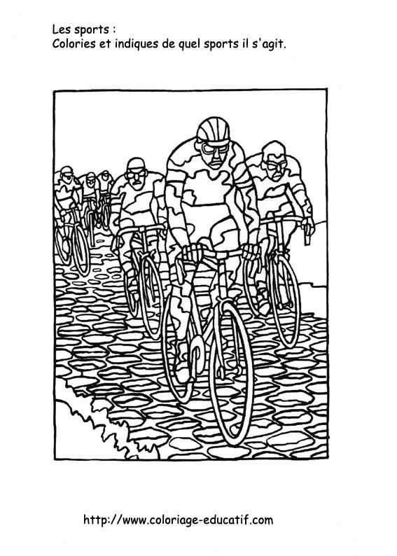 Coloriage et dessins gratuits Le Sport Cyclisme à colorier à imprimer