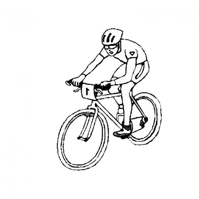 Coloriage sport de cyclisme dessin gratuit imprimer - Cycliste dessin ...