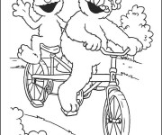 Coloriage et dessins gratuit Vélo a deux places humoristique à imprimer