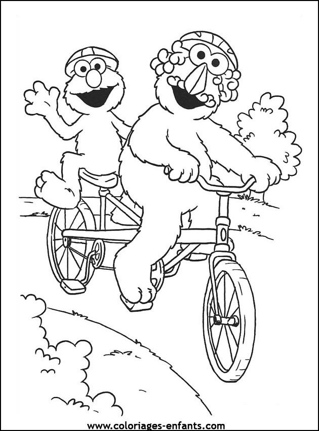 Coloriage et dessins gratuits Vélo a deux places humoristique à imprimer