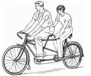 Coloriage et dessins gratuit Vélo Tandem à imprimer