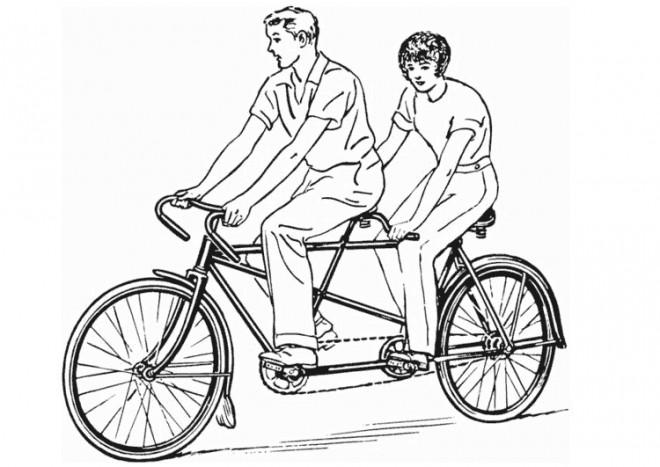 Coloriage et dessins gratuits Vélo Tandem à imprimer