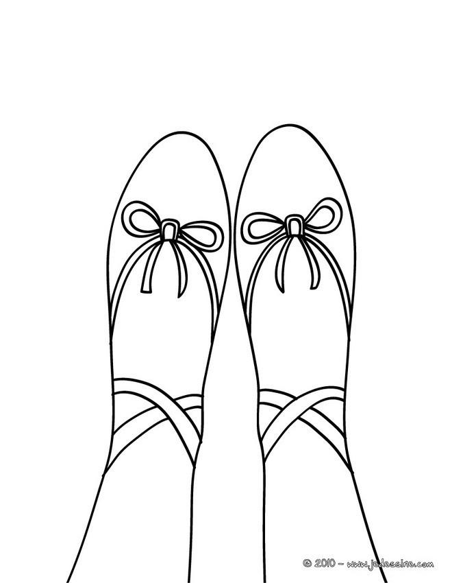 Coloriage et dessins gratuits Chausson de Ballerine à imprimer