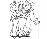 Coloriage Couple Danseurs de Flamenco