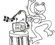 Coloriage dessin  Danse 17