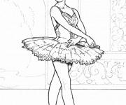 Coloriage dessin  Danse 5