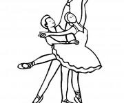 Coloriage dessin  Danse 9