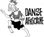 Coloriage Danse africaine à découper