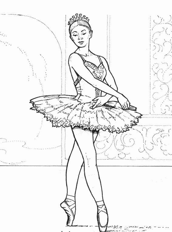 Coloriage Danseuse Ballet.Coloriage Danse Ballet Dessin Gratuit A Imprimer