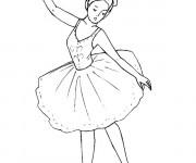 Coloriage Danse Ballet classique en couleur