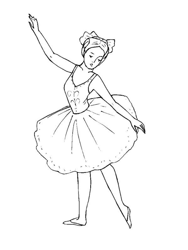 Coloriage danse ballet classique en couleur dessin gratuit imprimer - Dessin anime danseuse ...