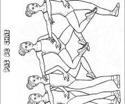 Coloriage Danse Ballet Pas de Chai