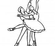 Coloriage et dessins gratuit Danse classique à imprimer