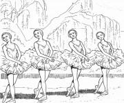 Coloriage Danse classique facile