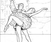 Coloriage et dessins gratuit Danse classique maternelle à imprimer