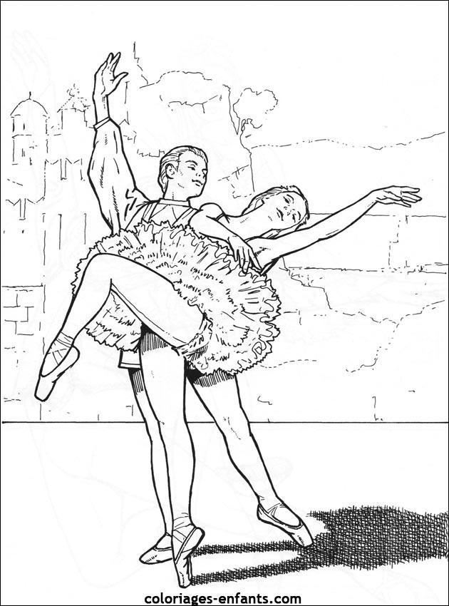 Coloriage Danse Classique Maternelle Dessin Gratuit à Imprimer
