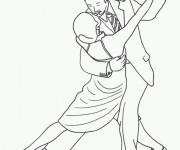 Coloriage Danse couple sensuelle