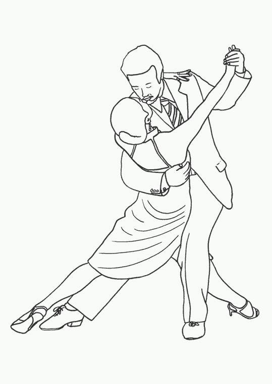 Coloriage et dessins gratuits Danse couple sensuelle à imprimer
