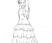Coloriage Danse Flamenco