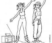 Coloriage Danse Hip hop