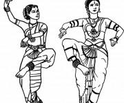 Coloriage Danse indienne traditionnelle