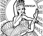 Coloriage et dessins gratuit Danse mandala à imprimer
