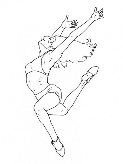 Coloriage danse moderne jazz dessin gratuit imprimer - Dessin de danseuse moderne jazz ...