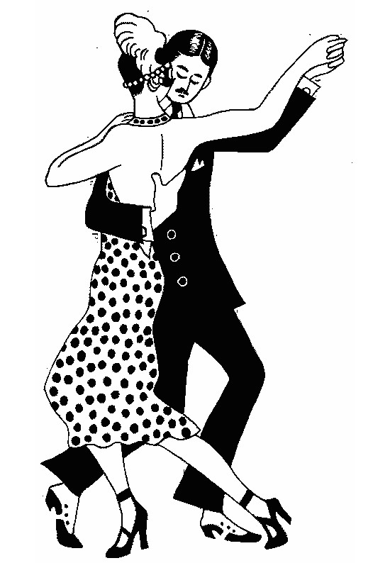 Coloriage et dessins gratuits Danseurs élégants à imprimer