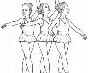Coloriage et dessins gratuit Danseuse Ballet à imprimer