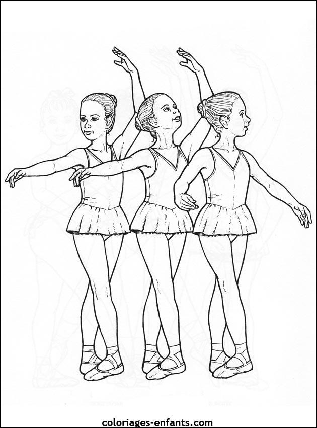 Coloriage et dessins gratuits Danseuse Ballet à imprimer