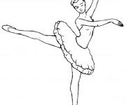Coloriage et dessins gratuit Danseuse Ballet  couleur à imprimer