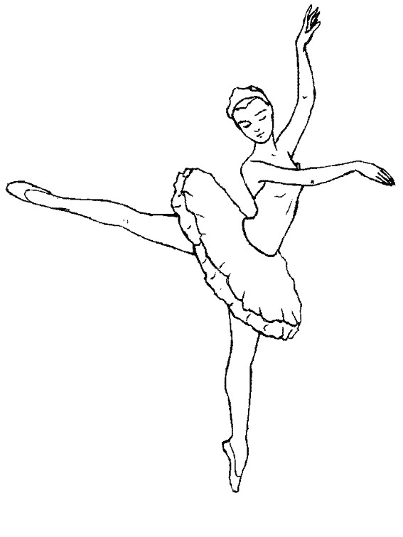 Coloriage Danseuse De Ballet.Coloriage Danseuse Ballet Couleur Dessin Gratuit A Imprimer