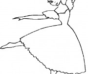 Coloriage et dessins gratuit Danseuse classique à imprimer