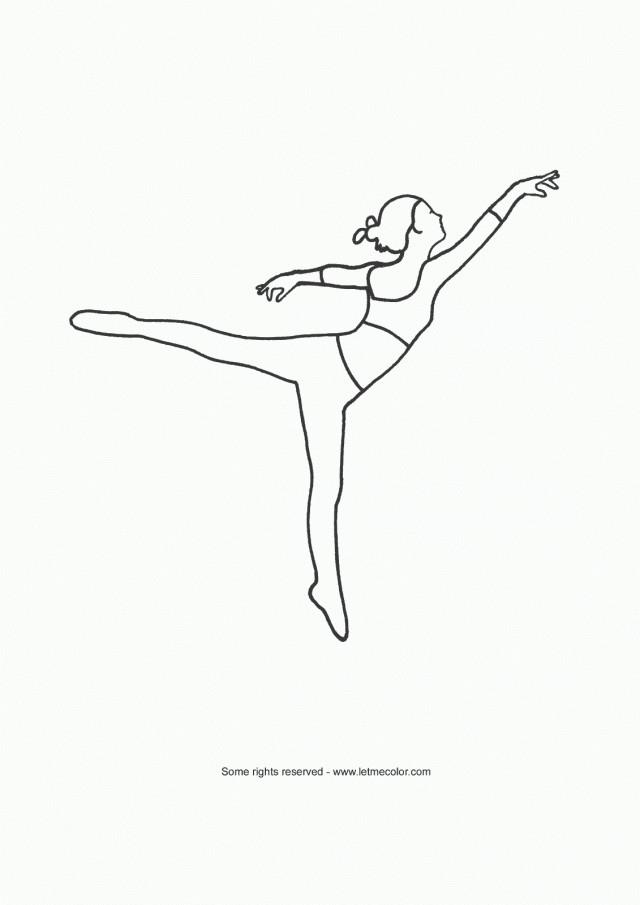 Coloriage danseuse classique stylis dessin gratuit imprimer - Dessin anime danseuse ...