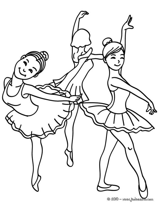 Coloriage danseuse de ballet dessin gratuit imprimer - Dessin anime danseuse ...