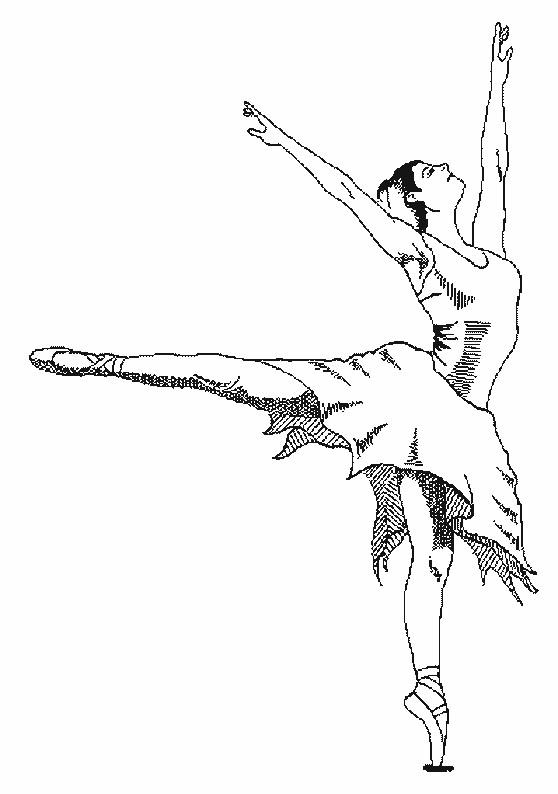 Coloriage Danseuse De Ballet Au Crayon Dessin Gratuit A Imprimer