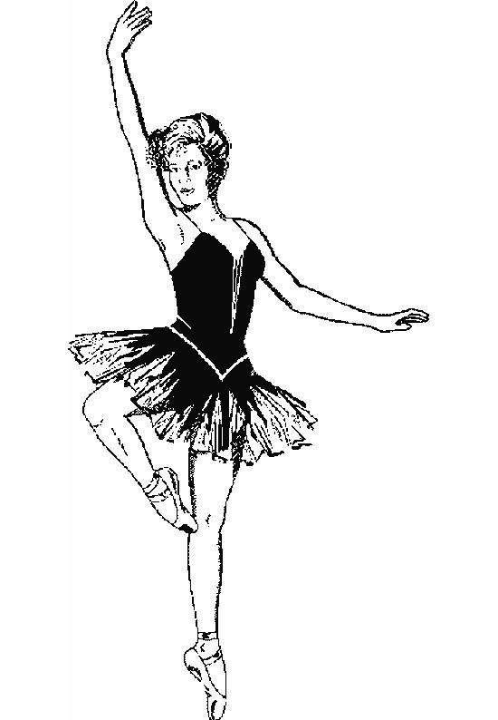 Coloriage Danseuse De Ballet.Coloriage Danseuse De Ballet En Noir Et Blanc Dessin Gratuit A Imprimer