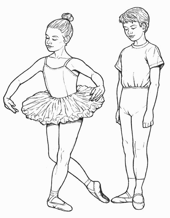 Coloriage danseuse en tutu dessin gratuit imprimer - Coloriage de danseuse ...