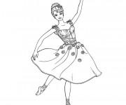 Coloriage Danseuse étoile