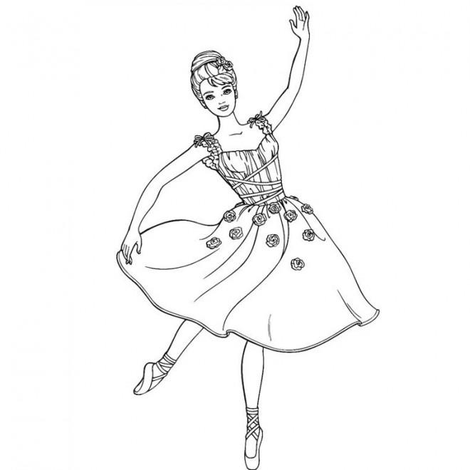 Coloriage Danseuse étoile Dessin Gratuit à Imprimer