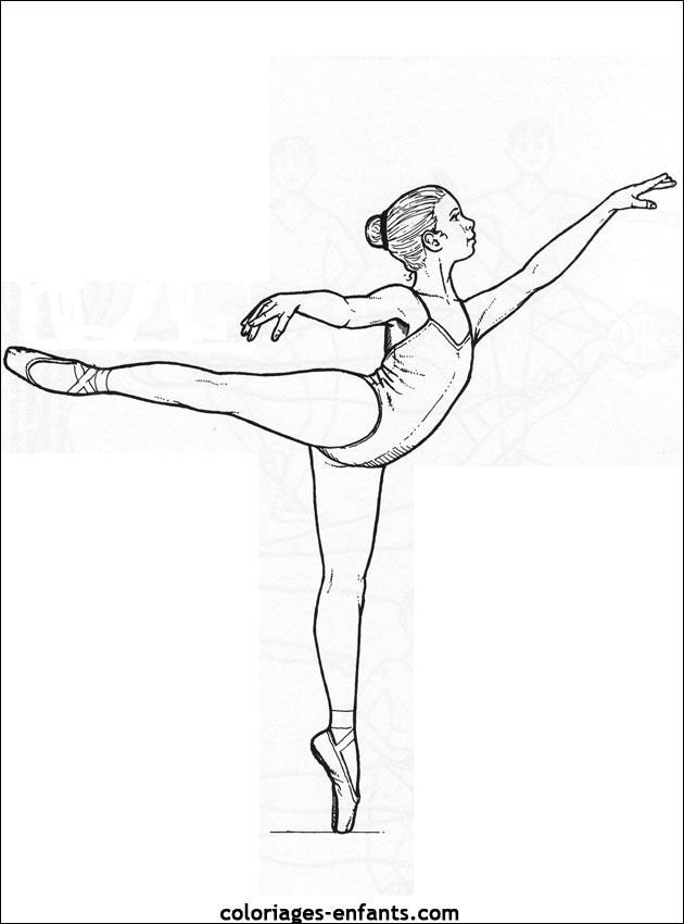 Coloriage Danseuse Facile Dessin Gratuit à Imprimer