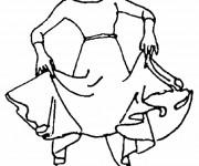 Coloriage Danseuse folklorique