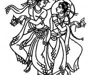 Coloriage Danseuse hindoue