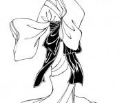 Coloriage Danseuse japonaise