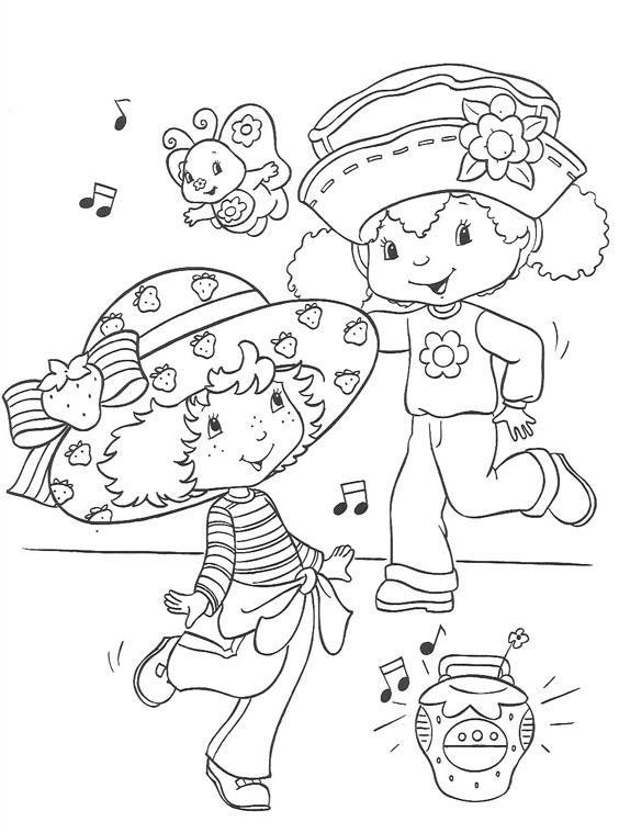 Coloriage et dessins gratuits Danseuse mignonnes dessin animé à imprimer