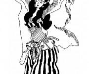 Coloriage Danseuse orientale couleur