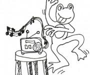 Coloriage et dessins gratuit Grenouille qui Danse à imprimer