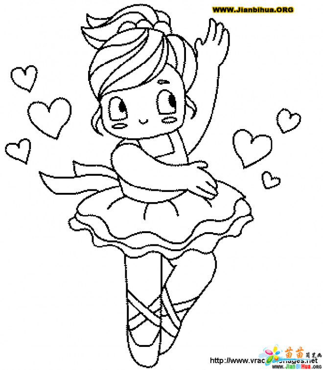 Coloriage et dessins gratuits Petite Danseuse à imprimer