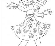 Coloriage et dessins gratuit Une Fille qui danse à imprimer